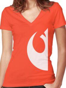 Rebels emblem Women's Fitted V-Neck T-Shirt