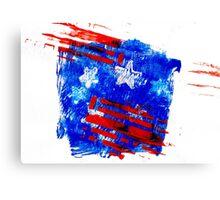 American Flag Splash Canvas Print