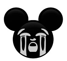 Micky Emoji - Bawling Photographic Print