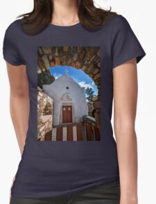 Small traditional Greek chapel Womens Fitted T-Shirt