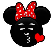 Minnie Emoji - Sweet Kiss Red Photographic Print