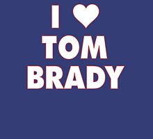 I LOVE TOM BRADY New England Patriots Football heart Womens Fitted T-Shirt