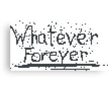 Broken Pixel - Whatever Forever Canvas Print