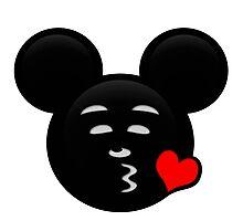 Micky Emoji - Sweet Kiss Red Photographic Print
