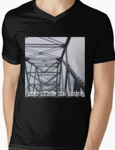 Build Bridges, Not Walls Mens V-Neck T-Shirt