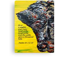 The Cattle on a Thousand Hills Canvas Print