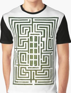 Overlook Hotel Shrub Labyrinth - The Shining Graphic T-Shirt