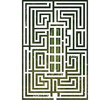 Overlook Hotel Shrub Labyrinth - The Shining Photographic Print
