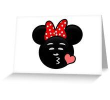 Minnie Emoji - Sweet Kiss Pink Greeting Card