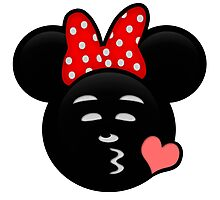 Minnie Emoji - Sweet Kiss Pink Photographic Print