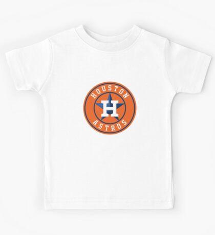 Houston Astros Color Swap Logo Kids Tee