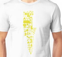 Team Flash Collage Yellow Unisex T-Shirt