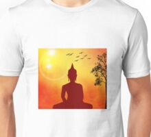 Colorful Golden Buddha in Nature Unisex T-Shirt
