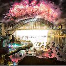 Sydney NYE Fireworks 2015 # 10 by Philip Johnson
