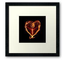 Burning Love Heart Framed Print