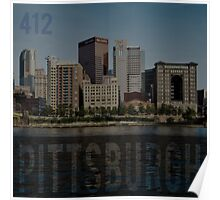 Pittsburgh 412 Area Code Poster