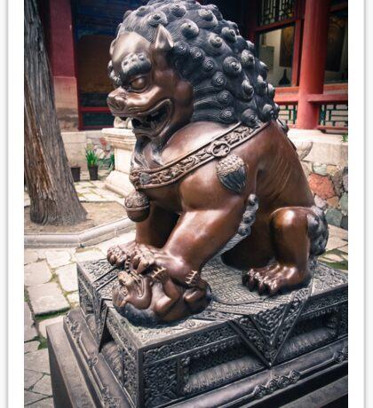 Lion Sculpture Sticker