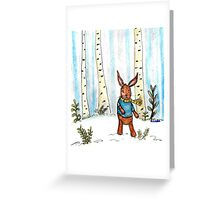 A Tale of a Winter's Bunny Greeting Card