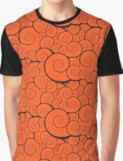 Orange swirls pattern Graphic T-Shirt