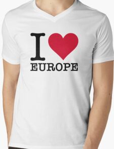 I love Europe! Mens V-Neck T-Shirt