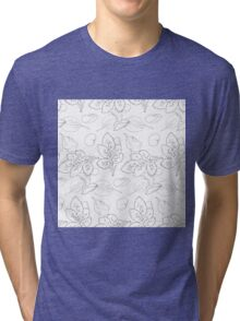 simple roses leaf ans petals pattern Tri-blend T-Shirt