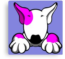 I Want Something Bull Terrier Pink Canvas Print