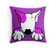 I Want Something Bull Terrier Pink Throw Pillow