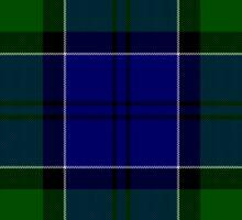 Blue and Green Clan Colquhoun Tartan Sticker