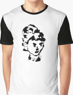 Woman in Ink Graphic T-Shirt