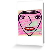 She Said Live In Color Greeting Card