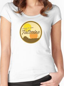Welcome to Sunny Tatooine Women's Fitted Scoop T-Shirt