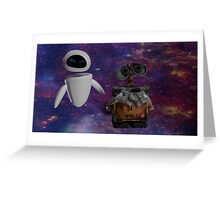 Walle and Eve Greeting Card