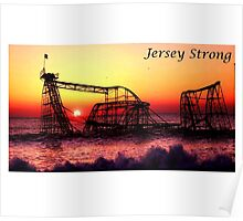 Jersey Strong - Roller Coaster Poster