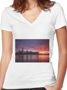30 Seconds Before Sunrise Women's Fitted V-Neck T-Shirt