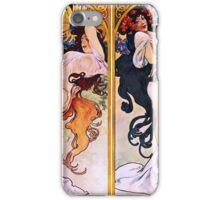 Alfons Mucha Art Nouveau Four Seasons Painting iPhone Case/Skin