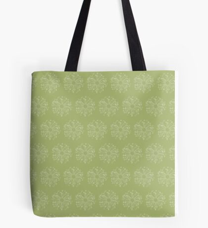 Fiddlehead Circles in Ferny Spring Green Tote Bag