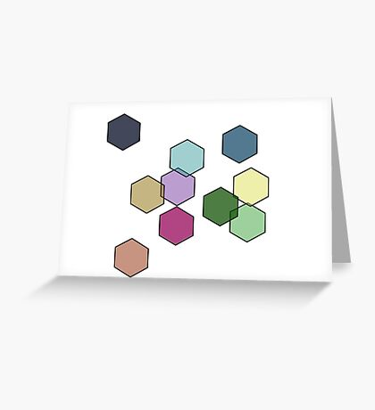 laughing hexagons Greeting Card