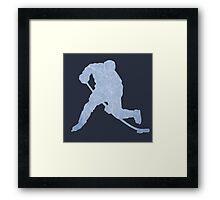 Hockey ice silhouette Framed Print
