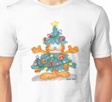 Garfield Christmas Watercolor T-Shirt Print and Cards Unisex T-Shirt