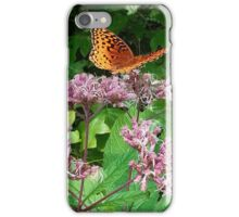 Butterfly on Pink Weeds iPhone Case/Skin