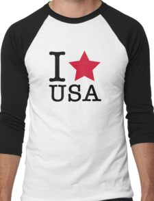 I love the USA! Men's Baseball ¾ T-Shirt