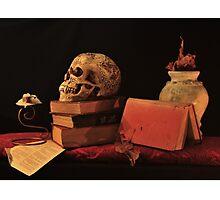 Still Life with Skull Photographic Print
