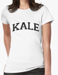 KALE Black Ink Womens Fitted T-Shirt