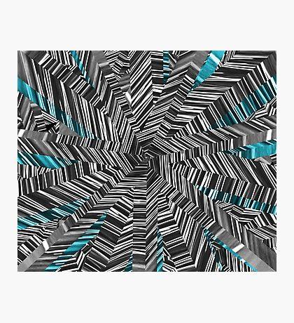 Crazy Blue Zebra Photographic Print