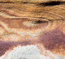 Australian rock formation with ocean in background, sandstone texture Sticker