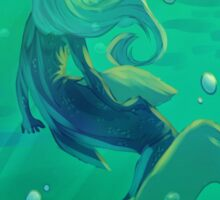 In The Deep Turquoise Sea  Sticker