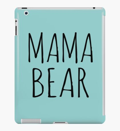 Mama Bear Black Ink iPad Case/Skin