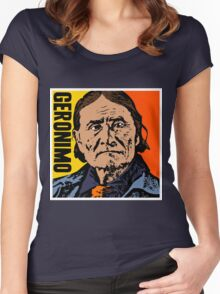 GERONIMO-COLOUR Women's Fitted Scoop T-Shirt