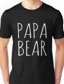 Papa Bear White Ink  Unisex T-Shirt