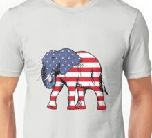 Republican Elephant American Flag Unisex T-Shirt